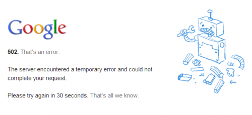 youtube error 502