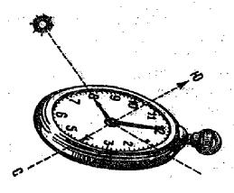 Определение стран света с помощью часов